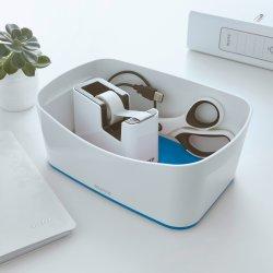 Leitz MyBox Opbevaringsbakke, hvid/blå