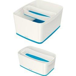 Leitz MyBox Opbevaringsbakke Long, hvid/blå