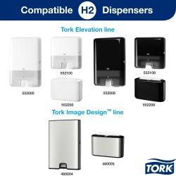 Tork H2 Xpress Advanced Håndklædeark, 4-fold,21 pk