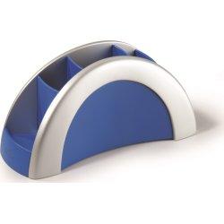 Durable Vegas Penneholder, sølv/blå
