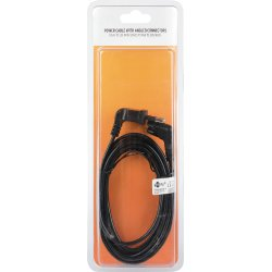 Qnect strømkabel euro til 2-pin C7, 2m, sort