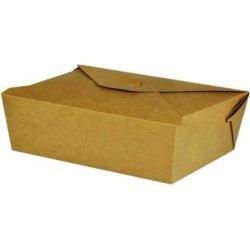 Takeaway æske brun karton, FSC, 195 x 140 x 45 mm
