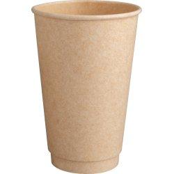 Kompost. Hot Cup , dobbelt sukkerrør, PLA, 240 ml