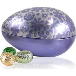Sølv/lilla Metal Æg med 20 stk. luksus æg, 260g