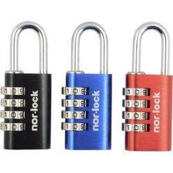 Nor-Lock hængelås 28 mm, Kodelås