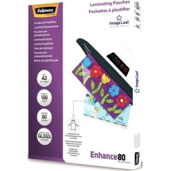Fellowes Enhance 80 mic A3 Lamineringslomme, gloss
