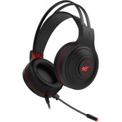 Havit H2011d Stereo Gaming Headset, sort/rød