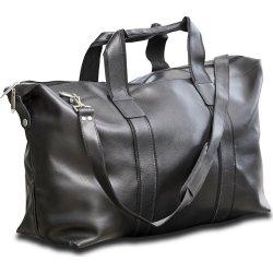 Weekendtaske i sort læder