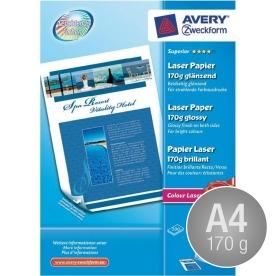 Avery laser fotopapir, glossy, A4/170g/200ark