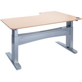 Easy stand 180 hæve/sænkebord venstre, bøg/alu