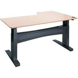 Easy stand 180 hæve/sænkebord venstre, bøg/sort