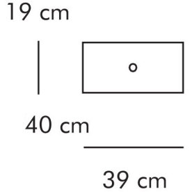 ABC Skuffe, smal 39x40 cm, hvidlaseret