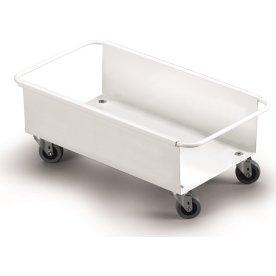 Transportvogn til 1 stk. 60 l affaldsspand, Hvid