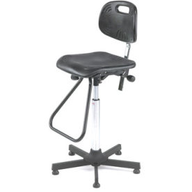 Classic arbejdsstol, PU skum, fodbøjle