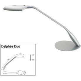 Delphée Duo lampe med bordfod, alu