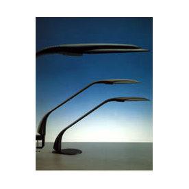 Delphée lampe med skruetvinge, sort