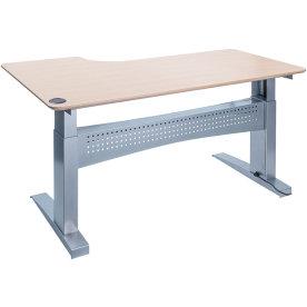 Easy stand 160 hæve/sænkebord højre, ahorn/alu