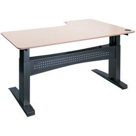Easy stand 160 hæve/sænkebord venstre, ahorn/sort