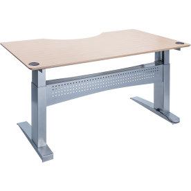 Easy stand 180 hæve/sænkebord  centerbue ahorn/alu