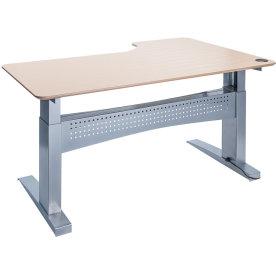 Easy stand 200 hæve/sænkebord venstre, ahorn/alu