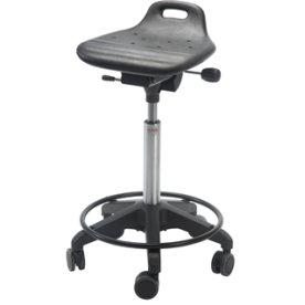 Omega Stol, fodkryds m/ hjul & fodring, sort