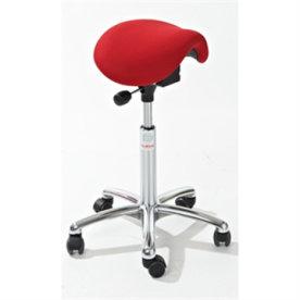 CL Mini sadelstol, rød, stof, 58-77 cm