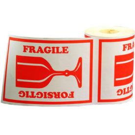 Etiketrulle 46x65 mm 'forsigtig/glas/fragile'