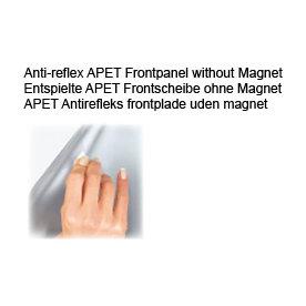 Antirefleks frontplade A1 u/magnet