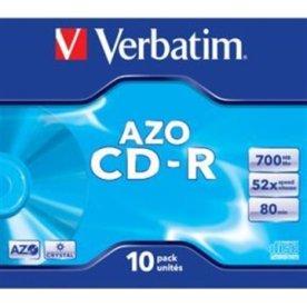 Verbatim AZO CD-R 700MB, Jewelcase, 10 stk