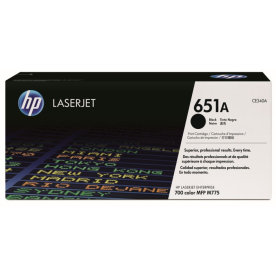 HP 651A/CE340A lasertoner sort, 13500s