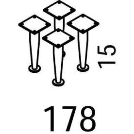 Mistral sektion 178 Ben 4 stk, H 15 cm
