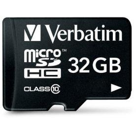 Verbatim 32GB microSDHC class 10 m/adapter