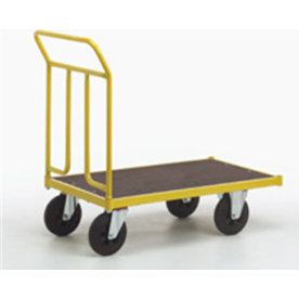 Ravendo lagervogn,100x60 cm, 400 kg, Massive hjul