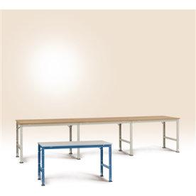 Manuflex arbejdsbord 100x80, Grå melamin, Tilbygni