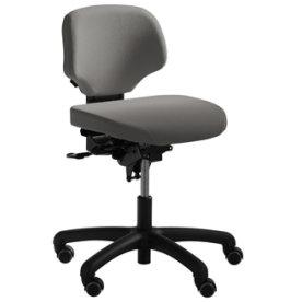 RH Activ 202 kontorstol lav ryg, bredt sæde grå