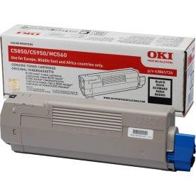 OKI 43865724 lasertoner, sort, 8000s