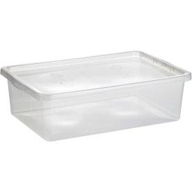 Basic plastboks inkl låg, 25 liter, Klar