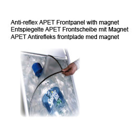 Antirefleks frontplade 73x103 m/magnet