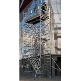 Rullestillads 135x245 inkl trapper - Højde 8,13 m
