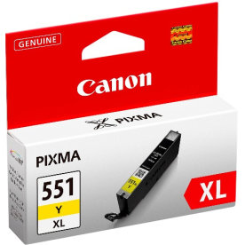 Canon CLI-551XL Y Blækpatron, Gul, 11 ml
