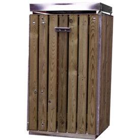 Affaldsstativ m/krængningsgaffel til papirsæk,Lærk