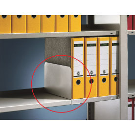 META Compact bogstøtte, 170x300 mm, Galvaniseret