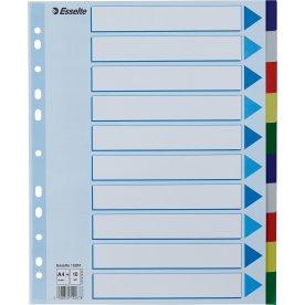 Esselte Maxi faneblade A4,10 faner, plast