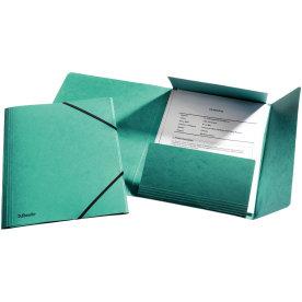Esselte elastikmappe m/klap, A4 karton, grøn