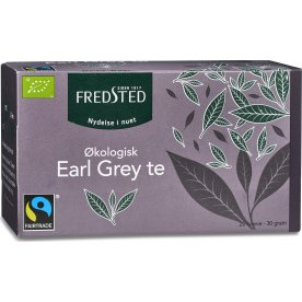 Fredsted Earl Grey økologisk te, 20 breve