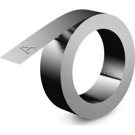 Dymo 3D rustfrit stål prægetape u/lim, 12mm