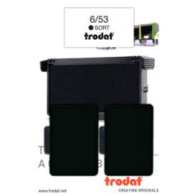 Stempelpude Trodat 6/53, 2 stk. sort
