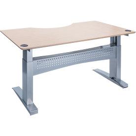 Easy stand 200 hæve/sænkebord centerbue, ahorn/alu