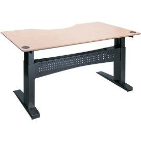 Easy stand 200 hæve/sænkebord centerbue, bøg/sort