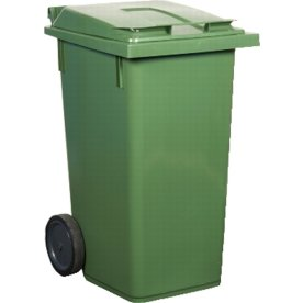 Affaldsvogn 240 l, Grøn